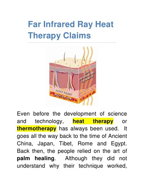 therapeutic infrared heat l far infrared ray heat therapy claims
