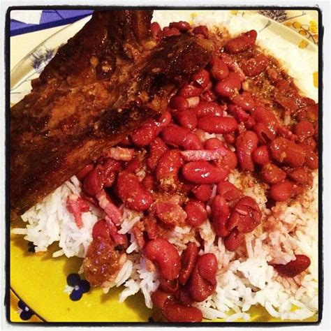 cuisiner des haricots rouges riz haricot et côte de porc cuisine créole plats