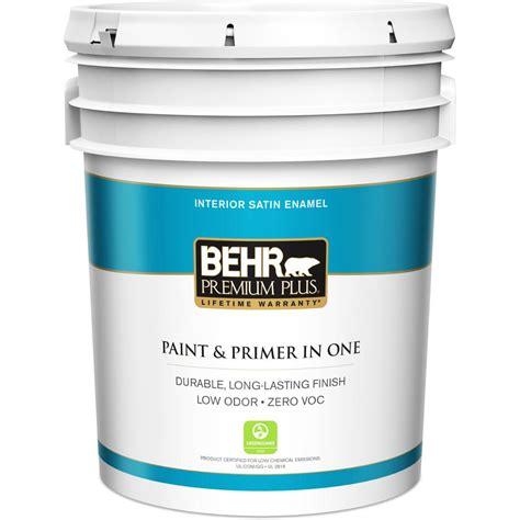 Behr Premium Plus 5 Gal Medium Base Satin Enamel Zero Voc