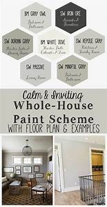 I put together a whole house paint scheme using some for Whole home interior paint ideas