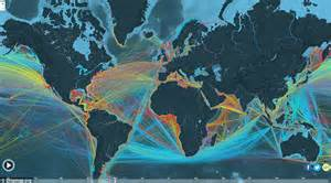 Ship Route by Interactive Map That Reveals The Route Of Every Merchant