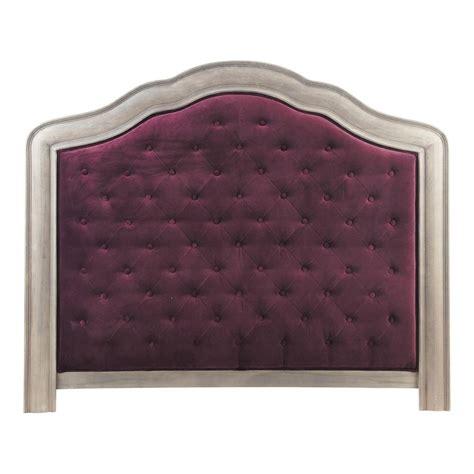 t 234 te de lit 140 velours violet domitille maisons du monde