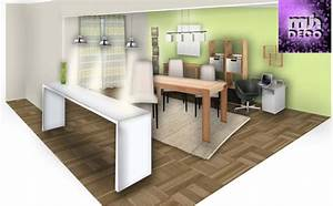 deco salon salle a manger cuisine With idée déco salon salle À manger pour deco cuisine