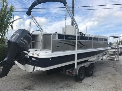 Deck Boats For Sale Melbourne Fl by 2014 Used Hurricane Fundeck 236 Deck Boat For Sale