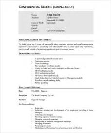 retail manager resume templates free store manager resume 10 documents in pdf sle templates