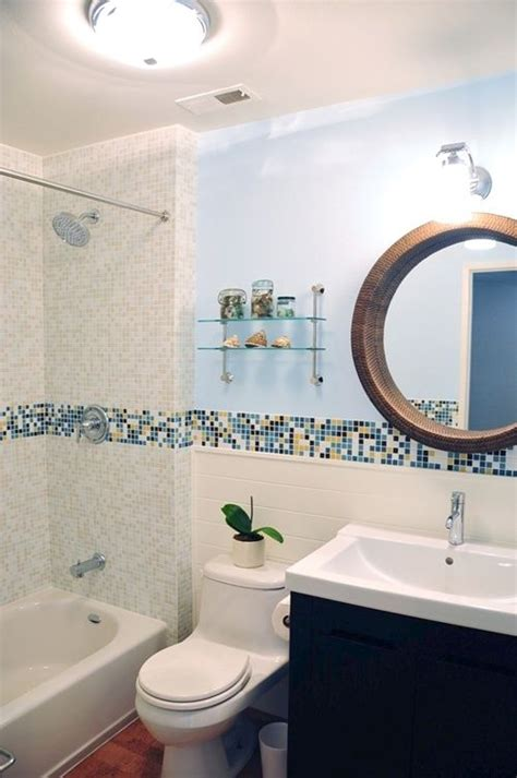 Mosaic Border Tiles Bathrooms by Modern Bath Design In Kaleidoscope Colorways Winter Blend