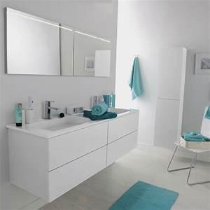 Salle de bain 25 nouveaux modeles pour s39inspirer en for Leroy merlin meuble salle de bains