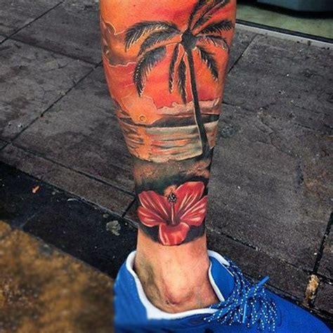palm tree  sunset tattoo designs  sunset tattoos