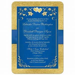 royal blue and gold wedding invitation cogimbous With wedding invitation royal blue motif