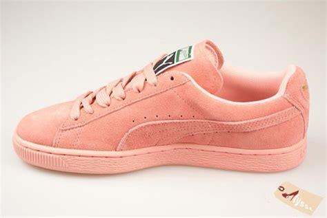 light pink puma shoes shoes pumasuede pastel lightpink puma sneakers