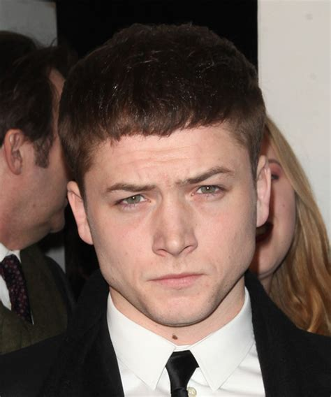 Taron Egerton Short Straight Casual Hairstyle   Medium