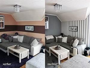 Wohnzimmer Ideen Wand : wohnzimmer streichen grau dekoration ~ Michelbontemps.com Haus und Dekorationen