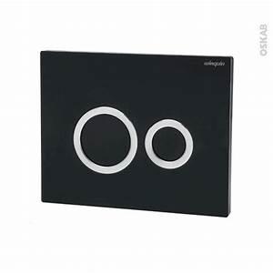 Plaque De Commande Wc Suspendu : plaque de commande wc suspendu hoop noire wirquin oskab ~ Dailycaller-alerts.com Idées de Décoration