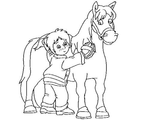 immagini di cavalli che saltano da colorare bambina e cavallo