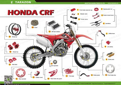 Motocross Off-road Dirt Bikes Motorcycle Spare Parts For
