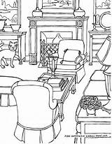 Drawing Coloring Adults Adult Perspective Rooms Step Drawings Fredgonsowskigardenhome sketch template