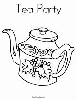 Tea Coloring Teapot Printable Noodle Sheet Twisty Worksheet sketch template