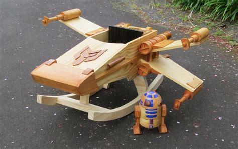 wooden ride  rocker toy modeled   star wars