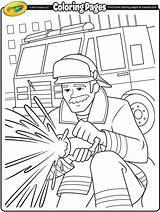 Firefighter Coloring Crayola Firefighters Firemen Fireman Fire Sheets Colouring Drawing Thank Fighting Printables Firetruck Preschool Printable Idols Helpers Cartoon Truck sketch template