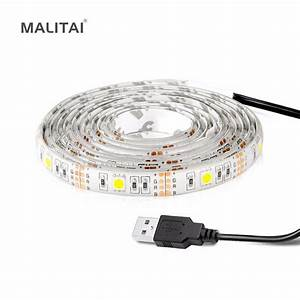 Usb Led Strip : usb cable powered by charger usb led strip light 3528 2835 5050 smd 5v string holiday decor lamp ~ A.2002-acura-tl-radio.info Haus und Dekorationen