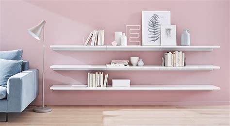 Floating Shelves White Oak Walnut Regalraumcom