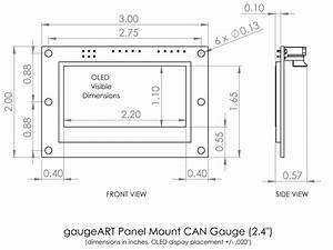 Gaugeart Panel Mount Can Gauge  U2013 Gaugeart Com