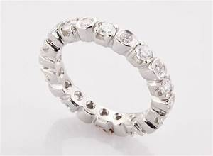 womens platinum eternity band made in boston ma With wedding rings with diamonds all around