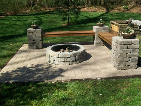 outdoor fireplaces pits lowes firepit kit