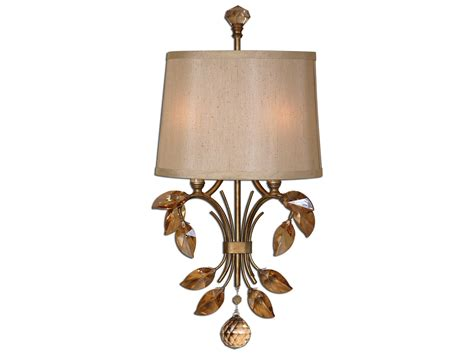 Uttermost Alenya Gold Two-light Wall Sconce