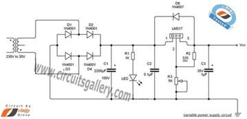 12v Bench Power Supply by Variable Dc Power Supply Schematic Using Lm317 Voltage
