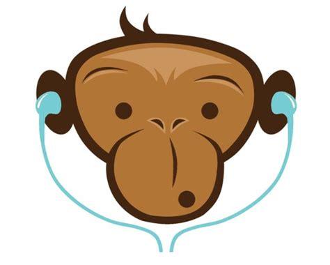 cartoon monkey head   clip art