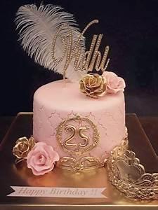 25th Birthday Designer Fondant Cake 112