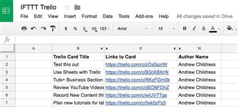 How To Use Ifttt With Google Sheets Business Cards Layout Card Reader To Excel Etsy Luxury Size Illustrator Etiquette Japan Logo File
