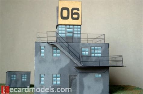 wwii raf control tower paper model  images