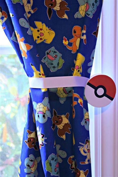 magnetic curtain tie backs pokemon tie backs