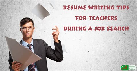 resume writing tips  teachers   job search