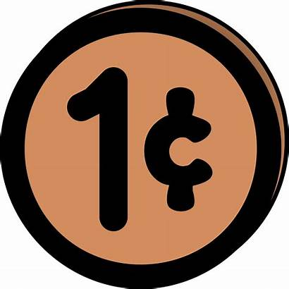 Cent Clipart Penny Clip Pennies Cents Coin