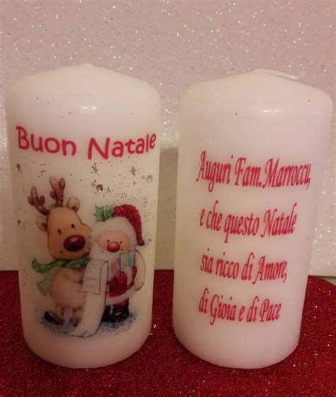 Candele Decorate Per Natale by Candele Natalizie Decorate A Mano Feste Natale Di