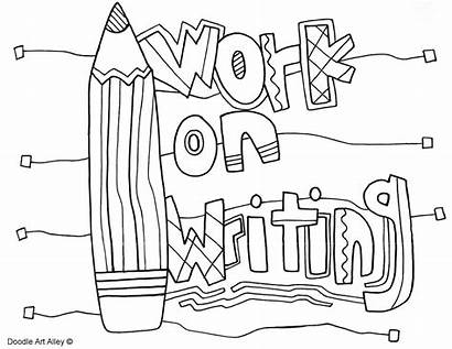 Writing Coloring Pages Daily Five Classroom Doodles