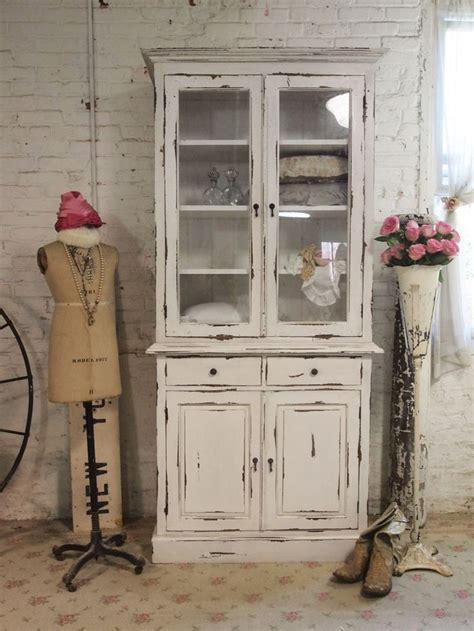 how to paint a shabby chic dining room table farmhouse cabinet use bottom of singer sewing stand and paint top distressed using same color