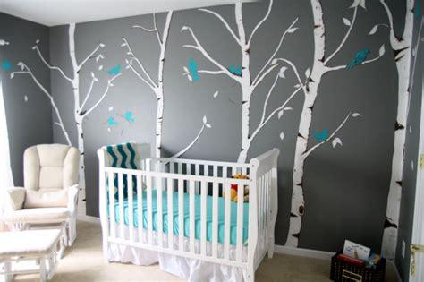 chambre bébé gris et bleu décoration chambre d enfant grise
