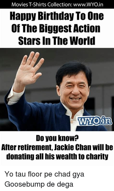 Chan Meme - movies tshirts collection wwwwyoin happy birthday to one of the biggest action stars in the