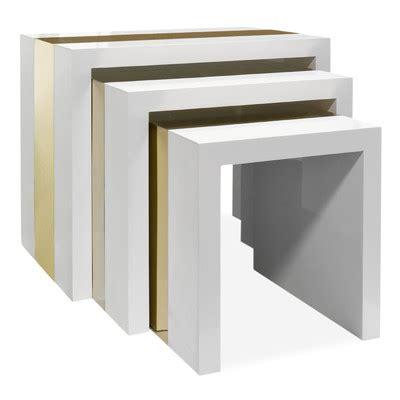 laminate floor lacquer jonathan adler lacquer laminate 3 piece nesting table set allmodern