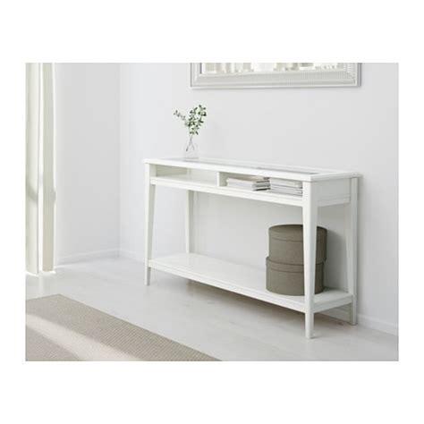 Liatorp Console Table Whiteglass 133x37 Cm Ikea