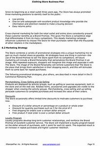 business plan template retail clothing line business plan With how to write a business plan for a clothing line