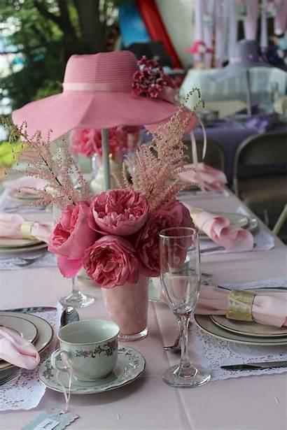 Tea Shower Party Bridal Romantic Table Centerpieces