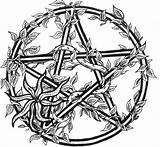 Pentacle Drawing Wiccan Pentagram Coloring Sketch Getdrawings sketch template