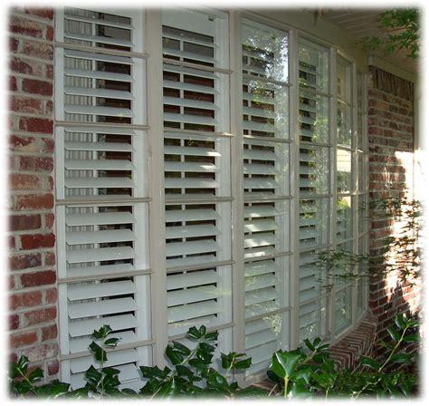 Plantation Window Shutters Exterior