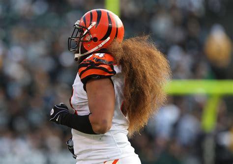 Cincinnati Bengals Domata Peko long hair nfl hairstyles