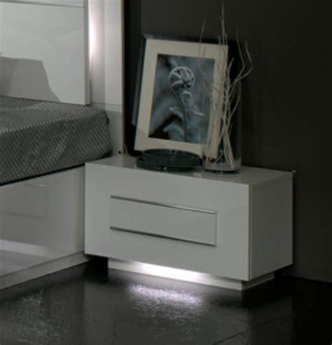 chevet chambre chevet 1 tiroir city laque blanc chambre à coucher